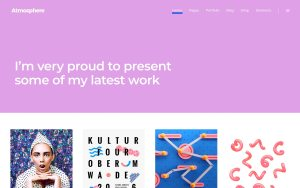 Atmosphere Best WordPress Portfolio Themes