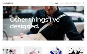 Atmosphere Architecture Resume WordPress Theme