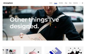 Atmosphere Architecture Resume WordPress Theme