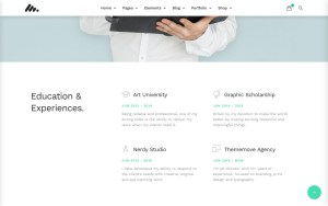 Moody Architecture Resume WordPress Theme