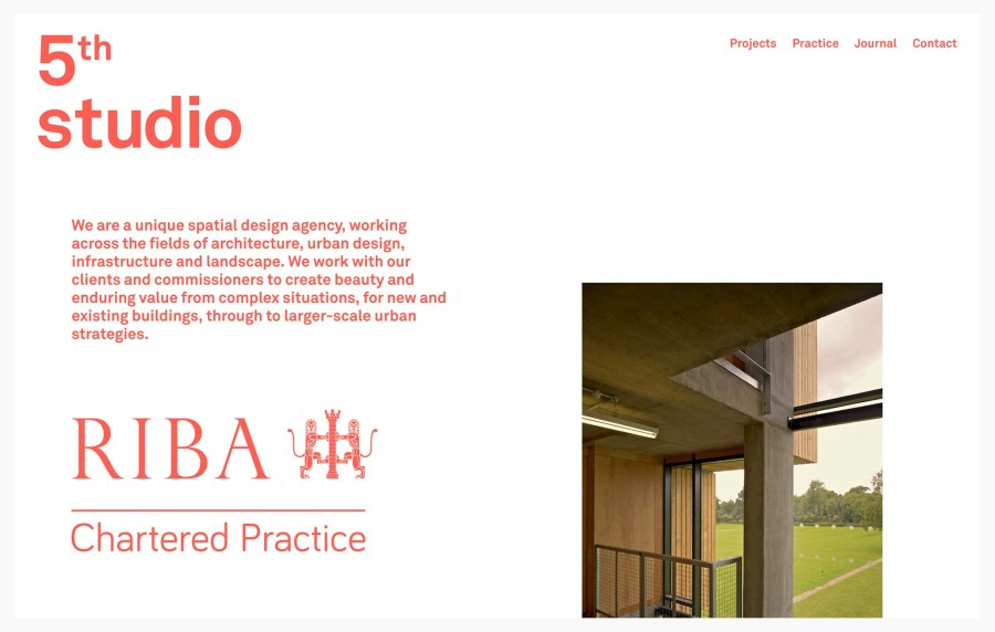 5th Studio - Best Architecture Websites 2018