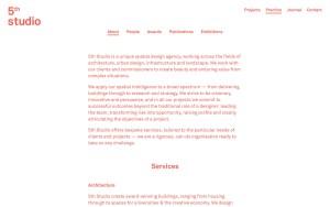5th Studio - Best Architecture Websites 2018