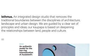 Isthmus - Best Architecture Websites 2018