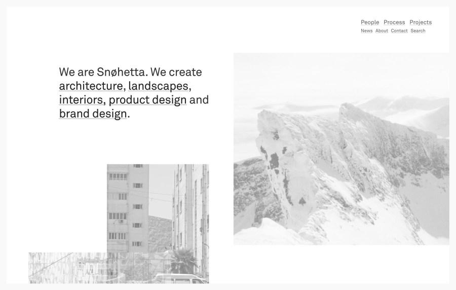 Snøhetta - Best Architecture Websites 2018