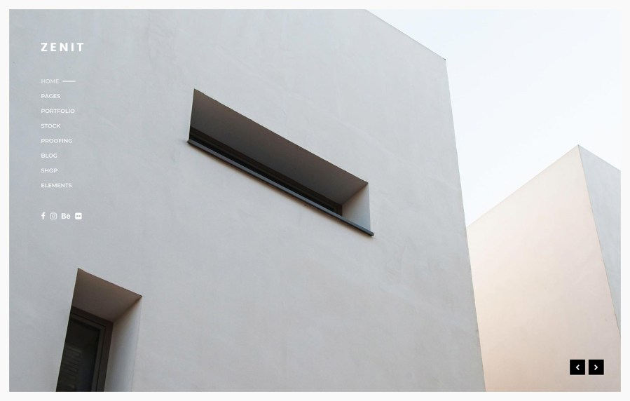 Zenit Architecture Photography WordPress Theme