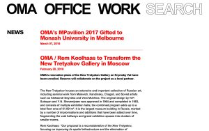 OMA - Best Architecture Websites 2018