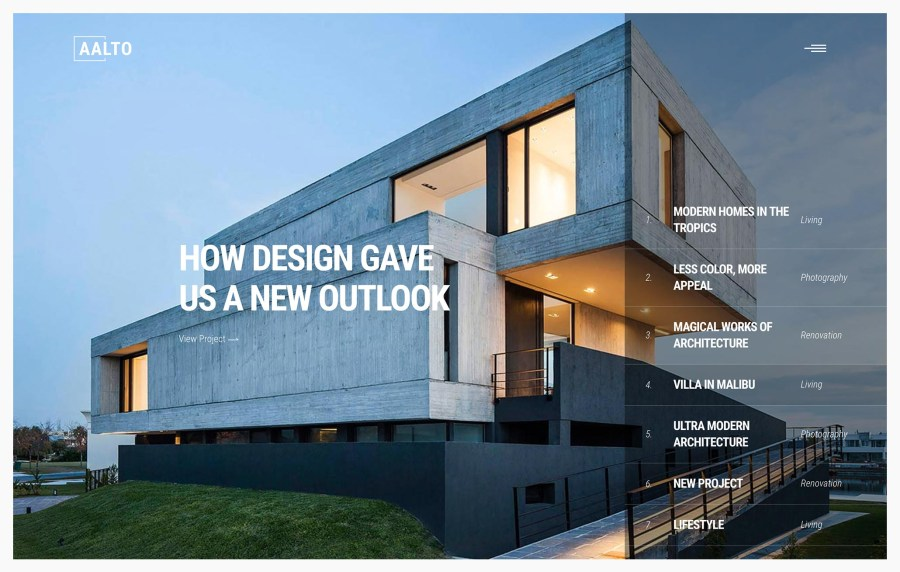 Aalto- Best Architecture WordPress Themes