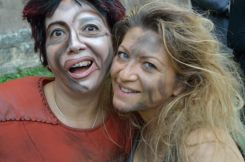 Laura Santarelli ed una sua allieva