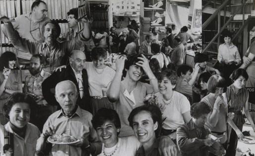 Collage di soci e personale della cooperativa (Renè Burri – Parigi 1982) - Archiminimal