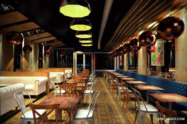 New Restaurant Design 3d Visualization Spacialists