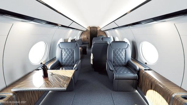 Gulfstream G650 Custom Interior Todd Rushing Archinect