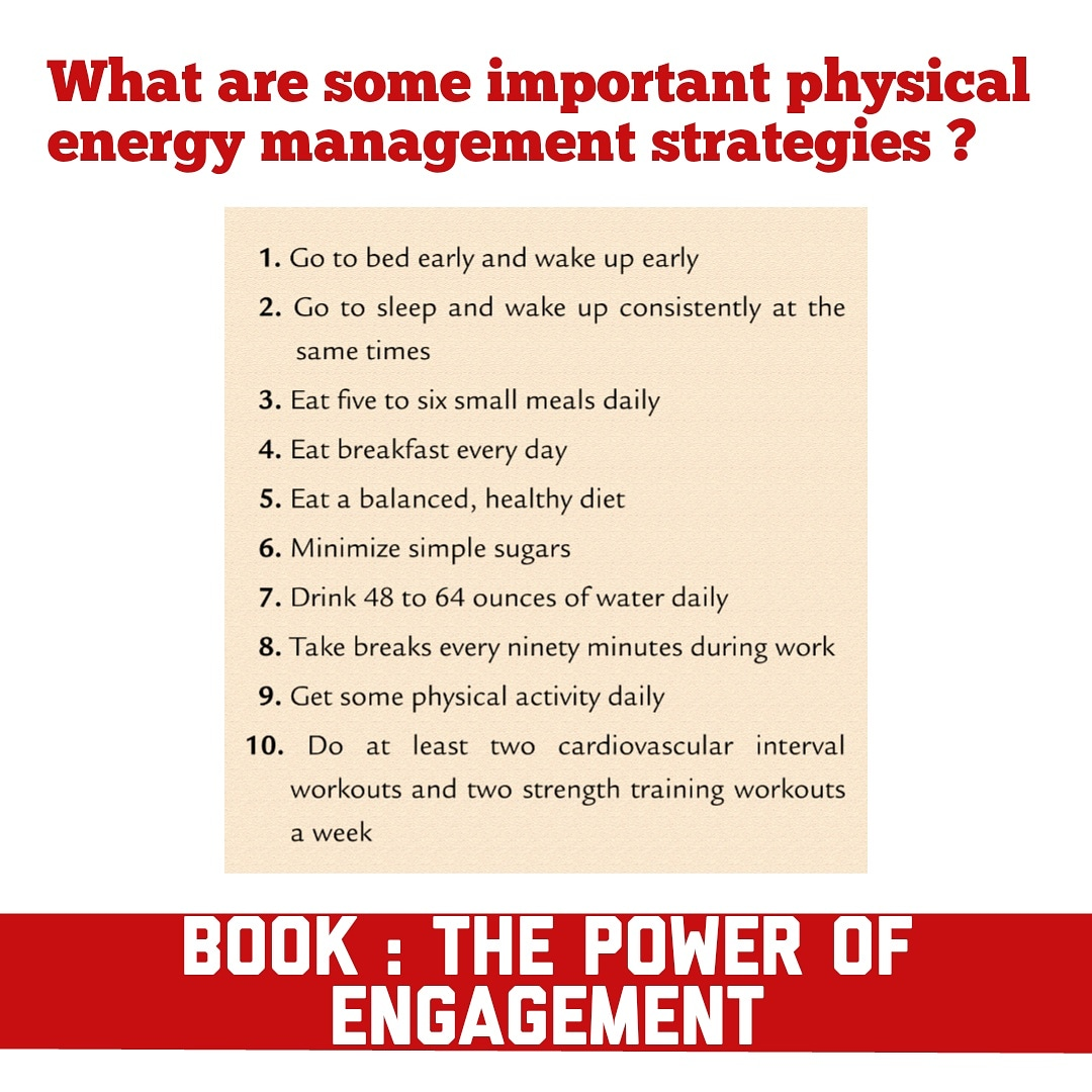 What Are Some Important Physical Energy Management
