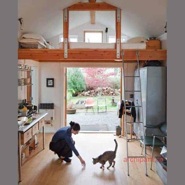 Small apartment design loft space