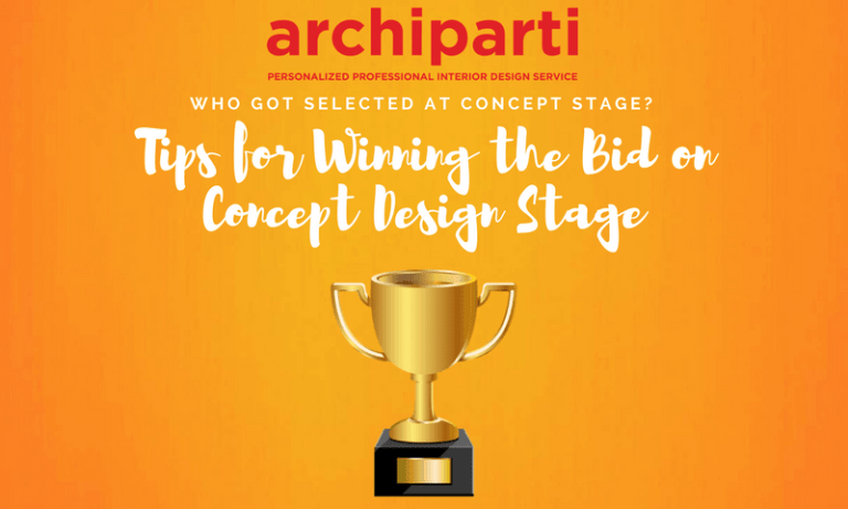 Who got selected at Concept Stage?  Tips for winning the bids on concept design stage (2017)