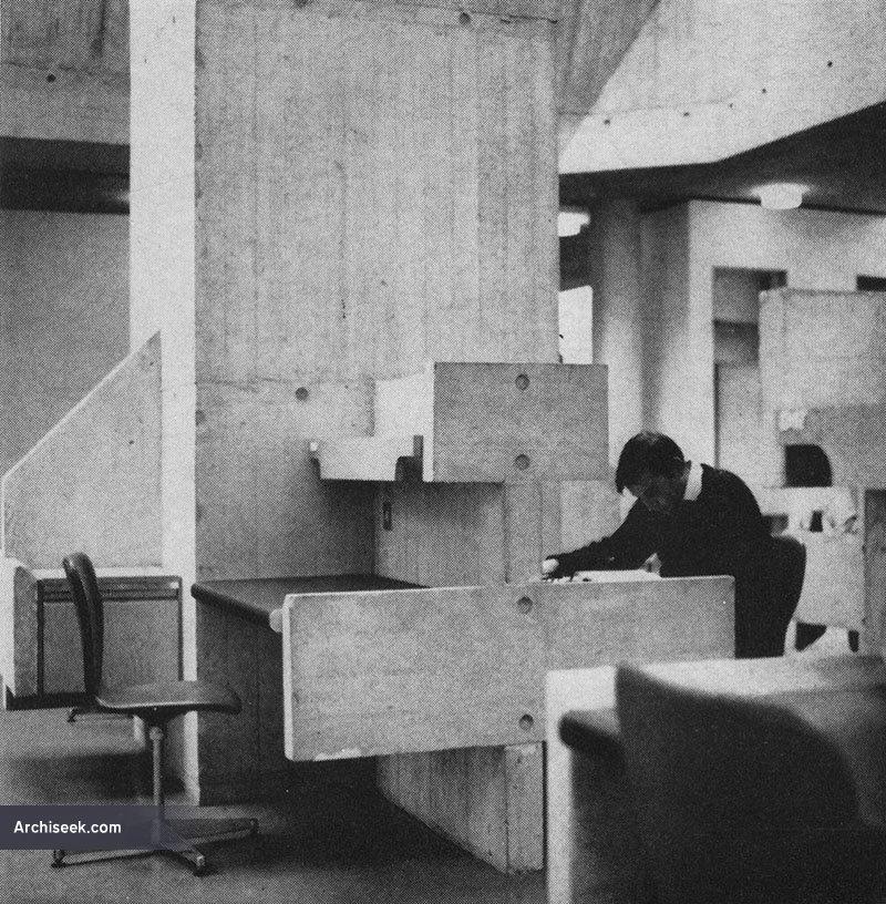1967 - berkeley library, trinity college dublin - architecture of