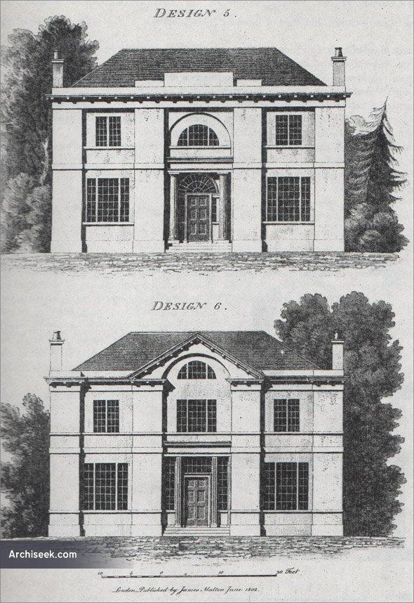 1802 - Design for house, Co. Laois - Architecture of Laois, Unbuilt ...