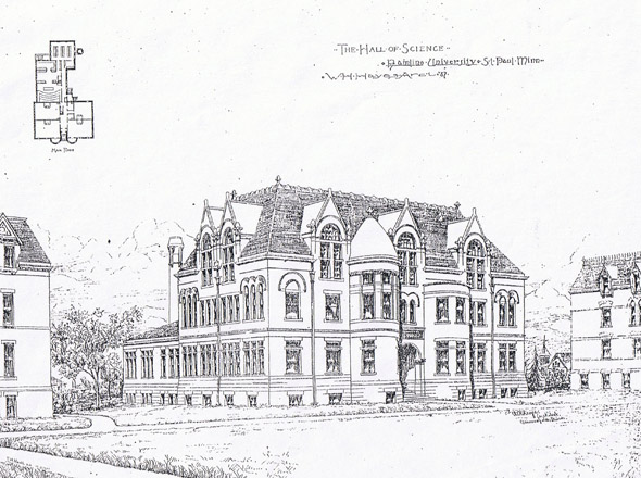 1897 - Hamline University Hall of Science, St. Paul, Minnesota