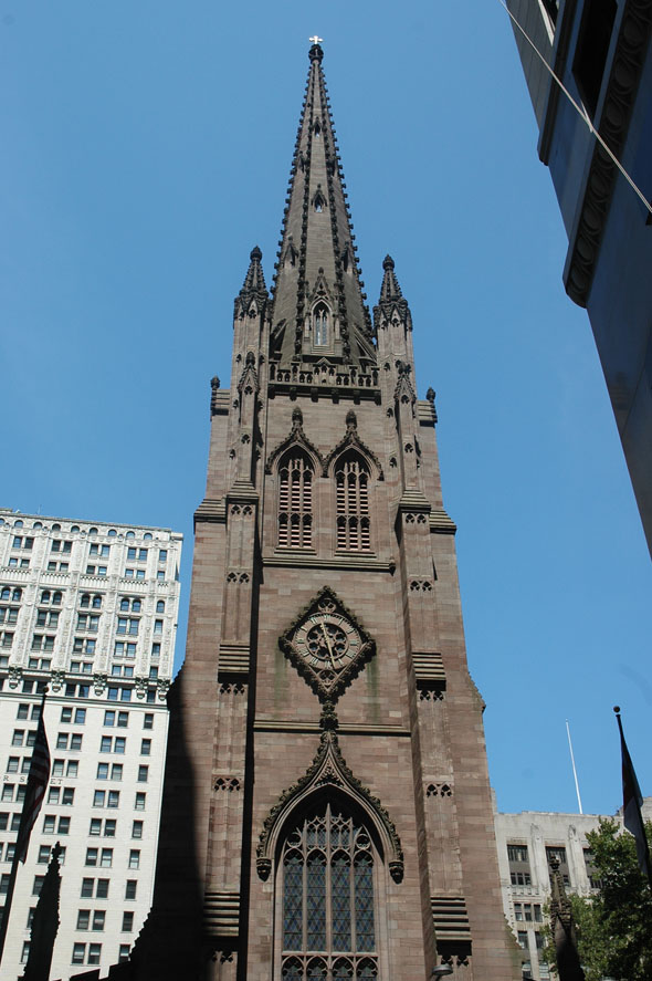 1846 Trinity Church Wall Street New York Archiseek