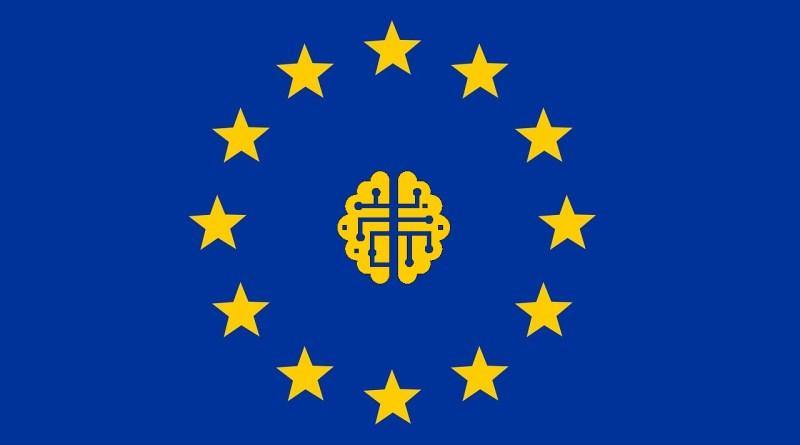 Europa, bandera, tecnologías disruptivas