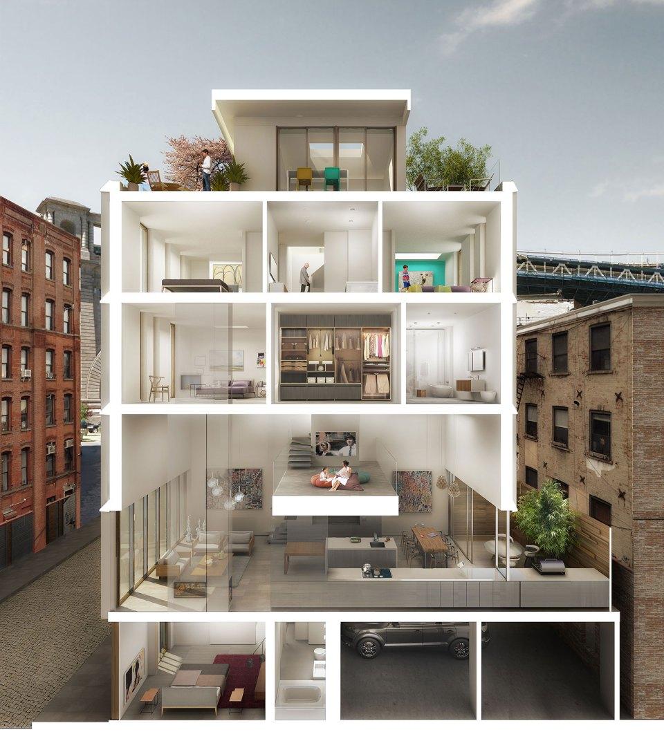 Dumbo Townhouses | Alloy LLC | Jared Della Valle | Architect & Developer | Architect as Developer | Architect Developer
