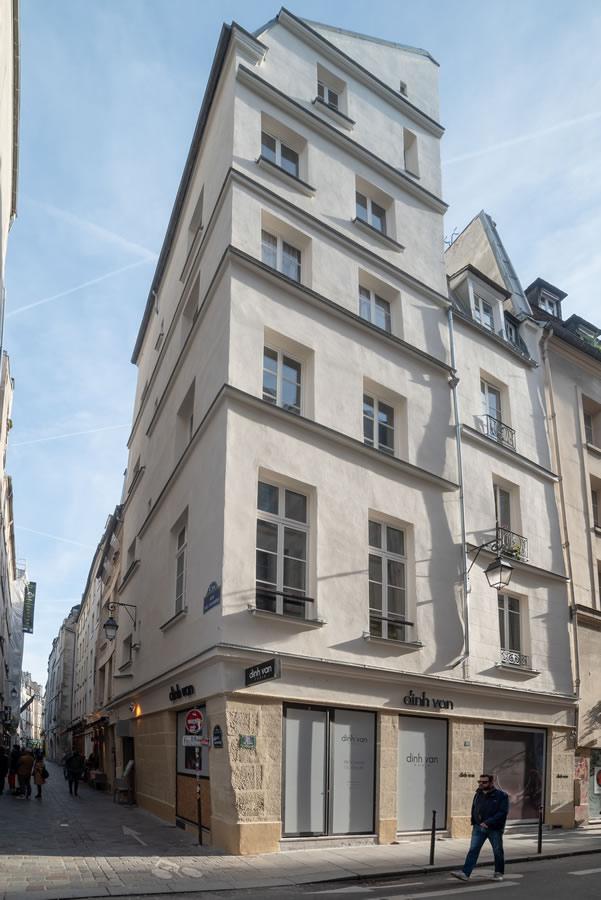Immeuble 33 rue des Rosiers © Photo Denis Gabbardo, pour Sispeo Architecte