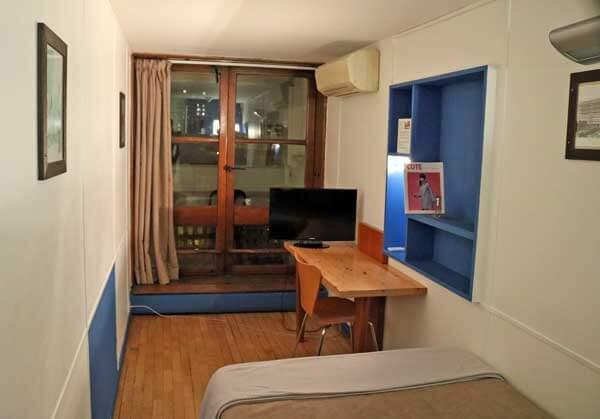 マルセイユのユニテ・ダビタシオン|ホテル「ル・コルビュジエ」シングルルーム