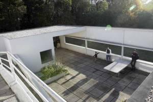 サヴォア邸の屋上庭園|ル・コルビュジエ建築|フランス(パリ)