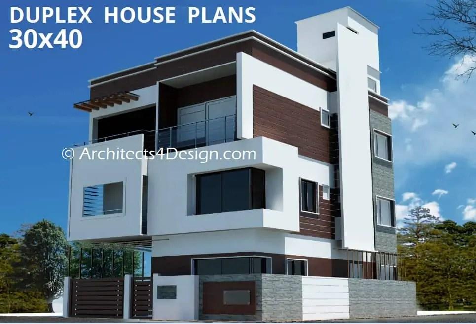 30x40 3 Bedroom House Plans