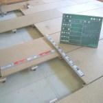内装工事の、置床(二重床)