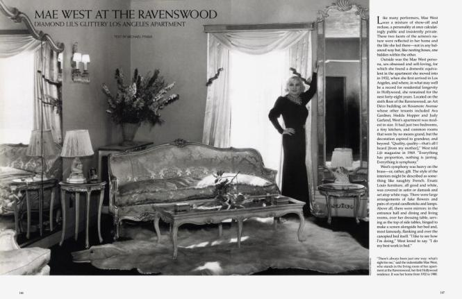 Mae West At The Ravenswood Architectural Digest April 1994