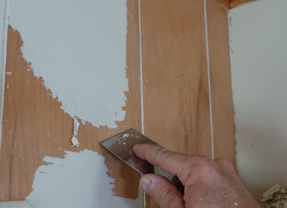 Stripping Paint Easily from 1960's Paneling