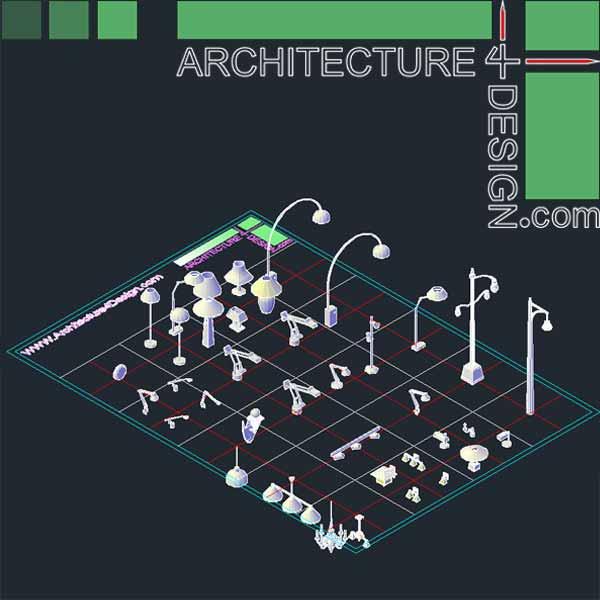Autocad 3D Furniture Models DWG File Architecture For Design