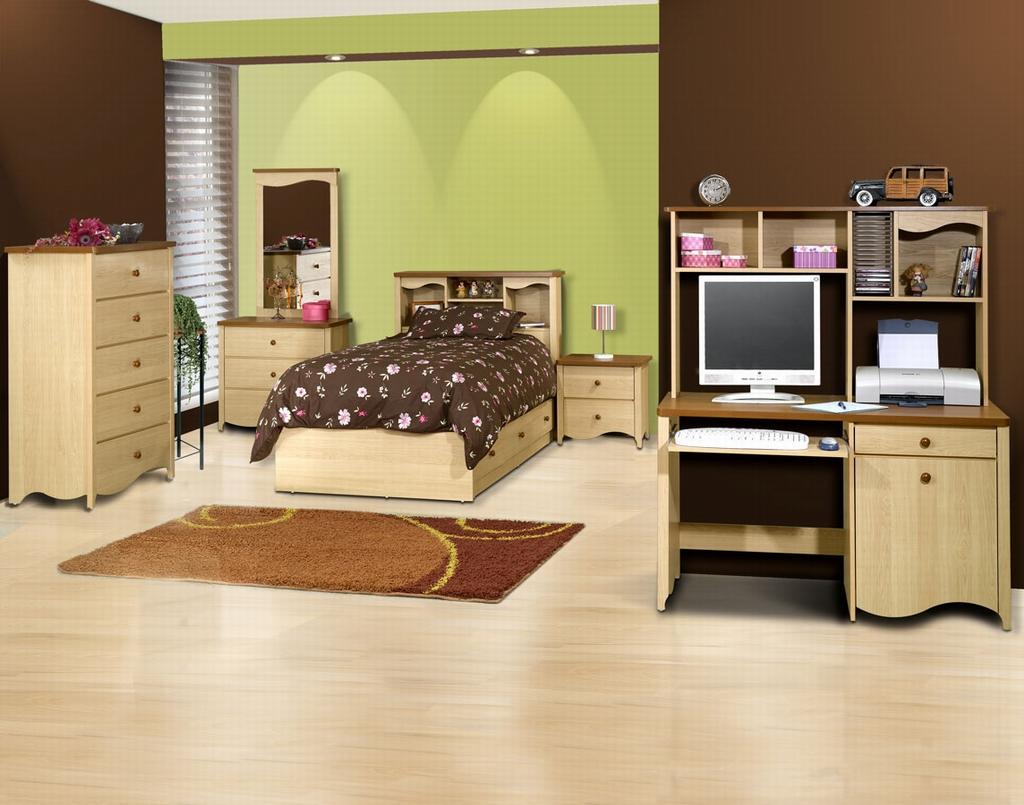 Beige teenage room design | Architecture & Interior Design on Beige Teen Bedroom  id=75851