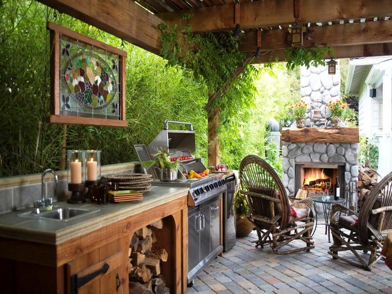 Playing with the garden design | Architecture & Interior ... on Backyard Kitchen Design id=28803