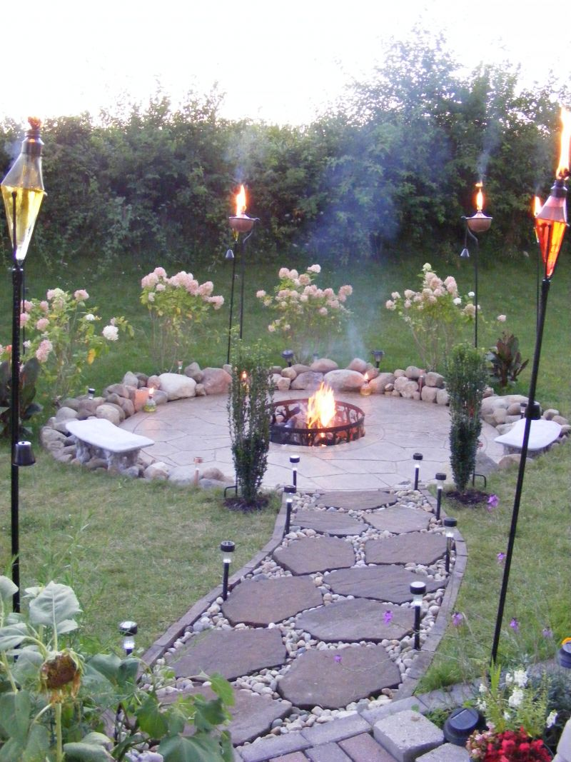 Playing with the garden design | Architecture & Interior ... on Garden Ideas With Fire Pit id=34959