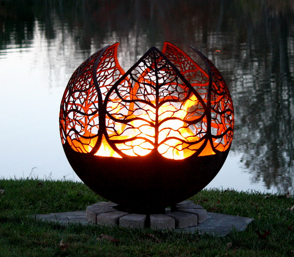 Amazing Fire Pit Art - metal structure | Architecture ... on Fire Pit Design  id=70688