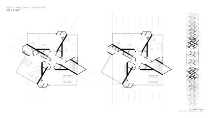 Frank Lloyd Wright's Price Tower Plan, 1956.