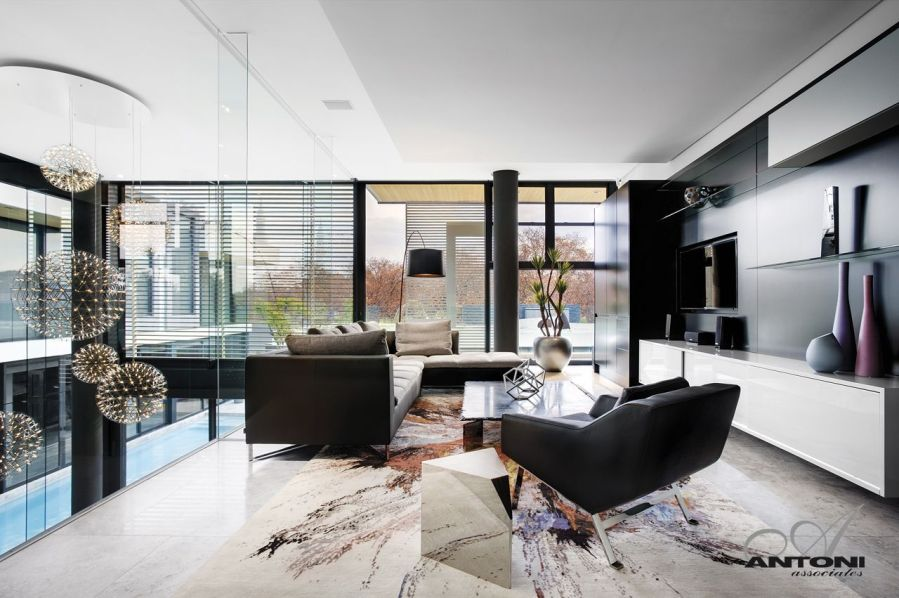 Modern Mansion With Perfect Interiors by SAOTA   Architecture Beast Modern guest room in modern mansion