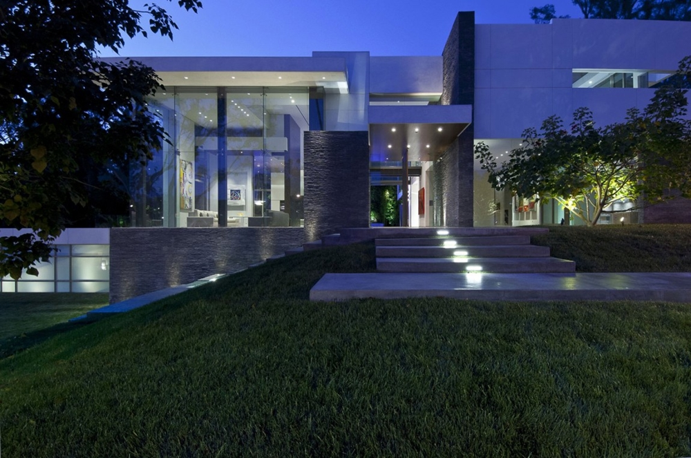 Top 50 Modern House Designs Ever Built    Architecture Beast Modern facade at night