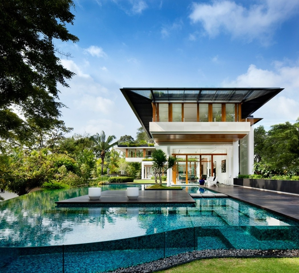Top 50 Modern House Designs Ever Built    Architecture Beast Tropical swimming pool and home  Futuristic modern home