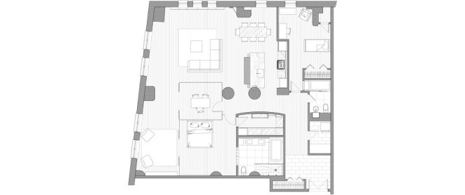 Floor Plan Of Modern Apartment