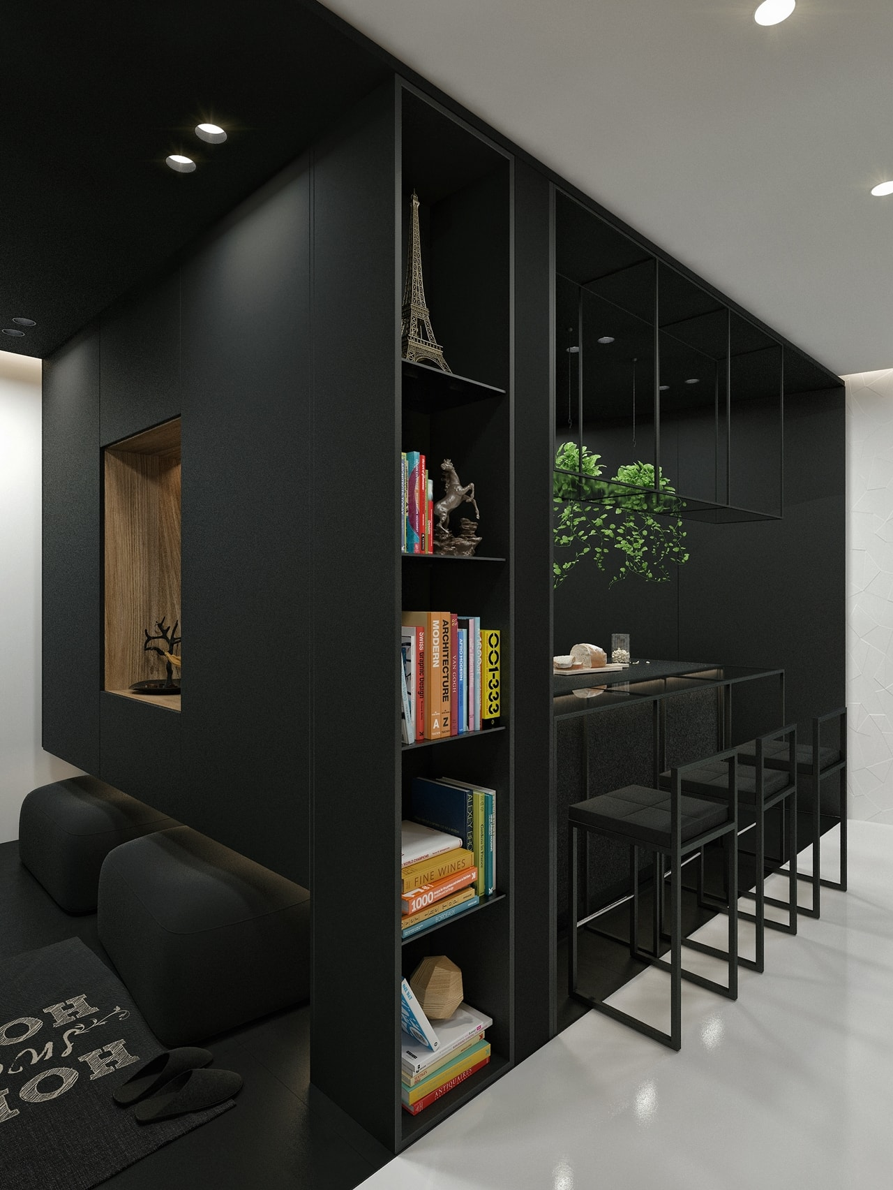 Black And White Interior Design Ideas: Modern Apartment by ... on Minimalist:btlhhlwsf8I= Bedroom Design  id=29123