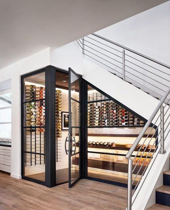 Under Stairs Design Ideas   Bar Under The Stairs Design   Living Room   Stair Storage   Interior Design   Wine Cellar   Storage