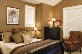 2017 Delightful Relaxing Colors For Bedrooms Old Cream Two Slat Venetians Painting Comfortable Beds Brown Armchair Relaxing Colors For Bedrooms Design And Ideas