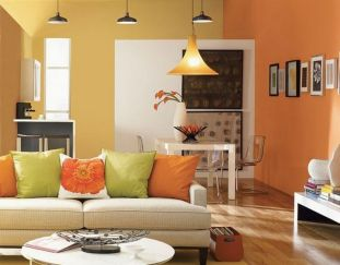 Beautiful Two Colors Painting Ideas And Designs For Living Room