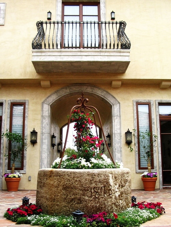 Custom Made Window And Balcony For The Mediterranean Patio