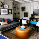 Futon Design Living Room Contemporary With Framed Art Garage