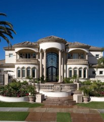 House Front Balcony Designs Exterior Mediterranean With Tall Ceilings Grand Entry Stone Balcony Railing