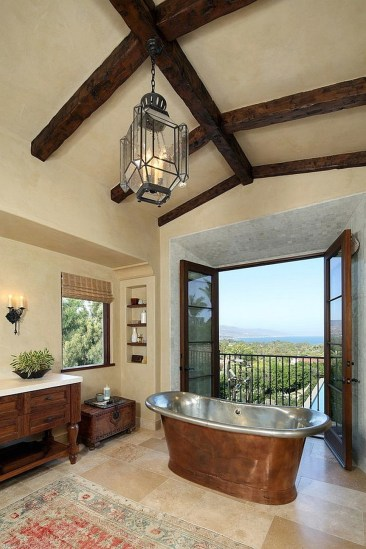 Mediterranean Style Bathroom In LA With A Smart Juliet Balcony