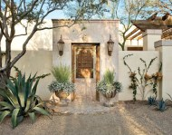 Mediterranean Style Home Rear Entrance